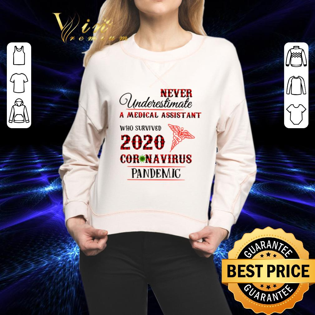 Never underestimate A Medical Assistant who survived 2020 coronavirus pandemic shirt 2