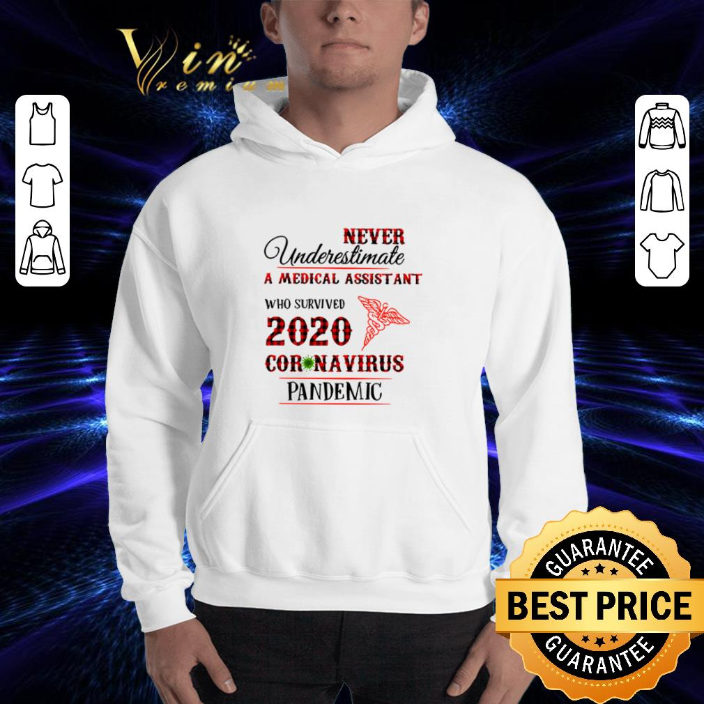 Never underestimate A Medical Assistant who survived 2020 coronavirus pandemic shirt 3