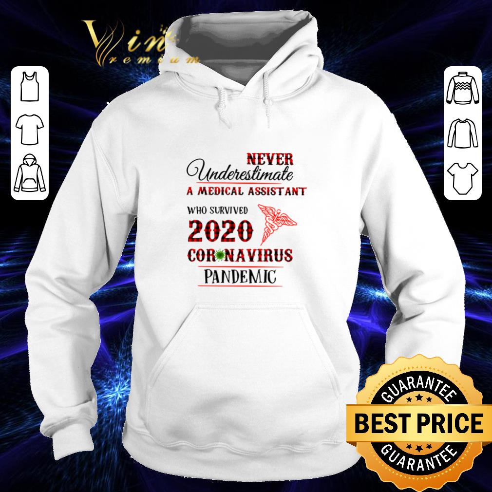 Never underestimate A Medical Assistant who survived 2020 coronavirus pandemic shirt