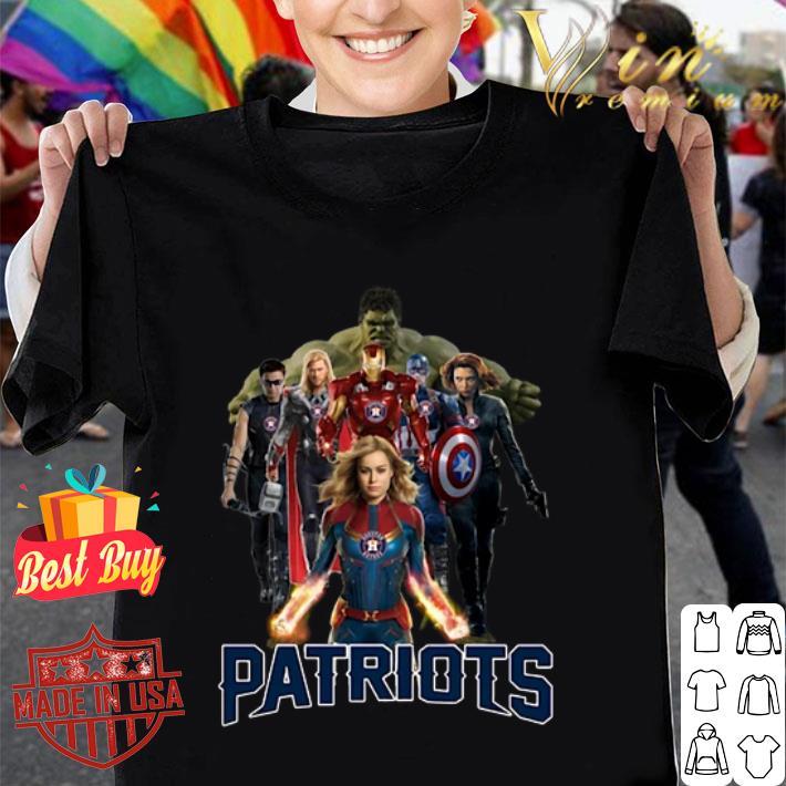 New England Patriots Avengers Endgame Characters shirt