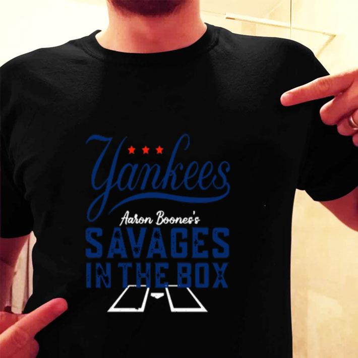 New York Yankees Aaron Boone savages in the box shirt