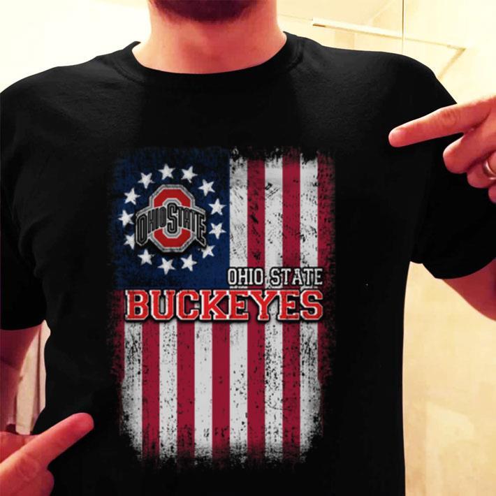 Ohio State Buckeyes Betsy Ross flag shirt