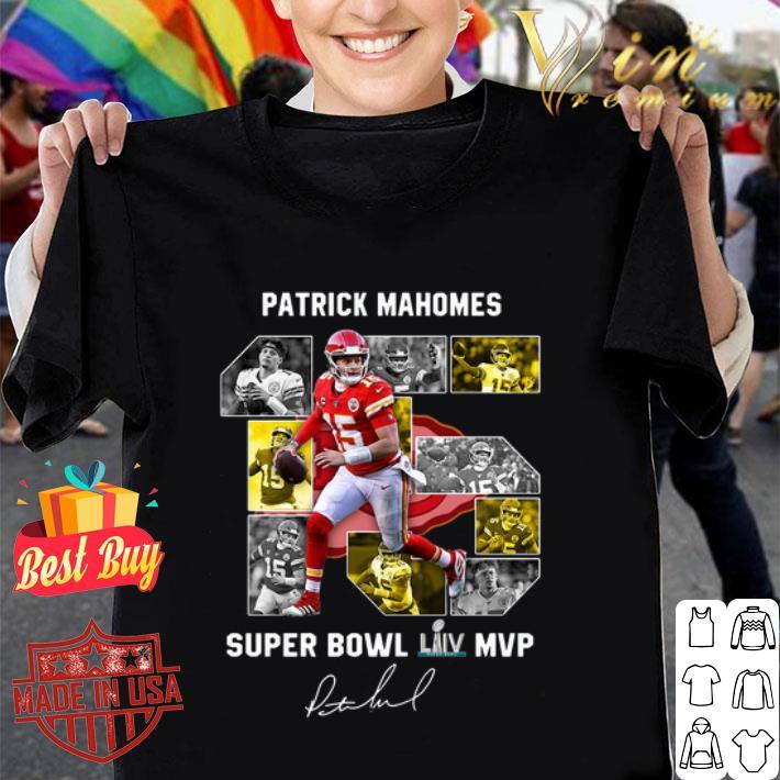 Patrick Mahomes 15 Super Bowl Liv MVP Signed Kansas City Chiefs shirt