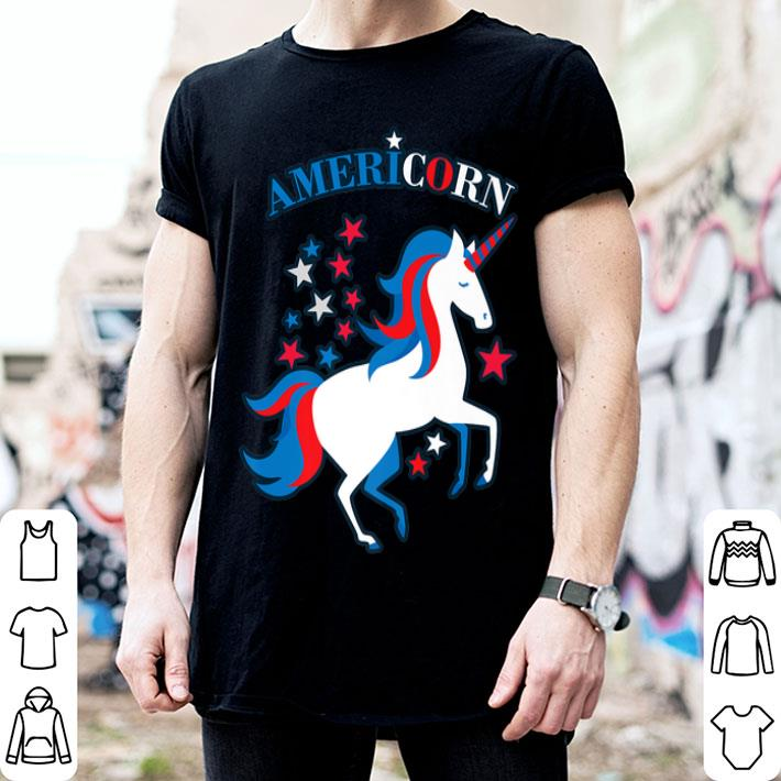 Patriotic American Flag Unicorn Americorn 4th of July shirt