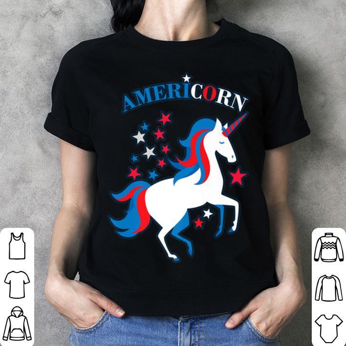 Patriotic American Flag Unicorn Americorn 4th of July shirt