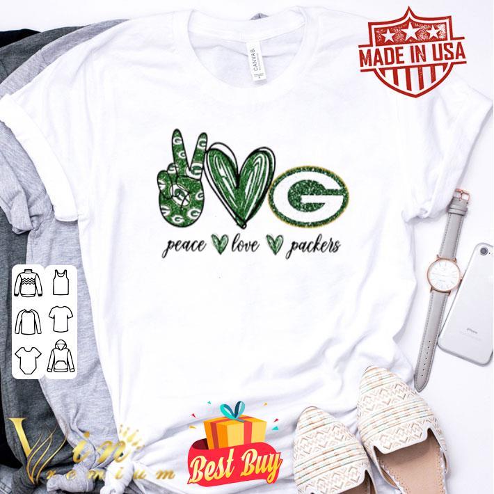Peace Love Green Bay Packers logo shirt