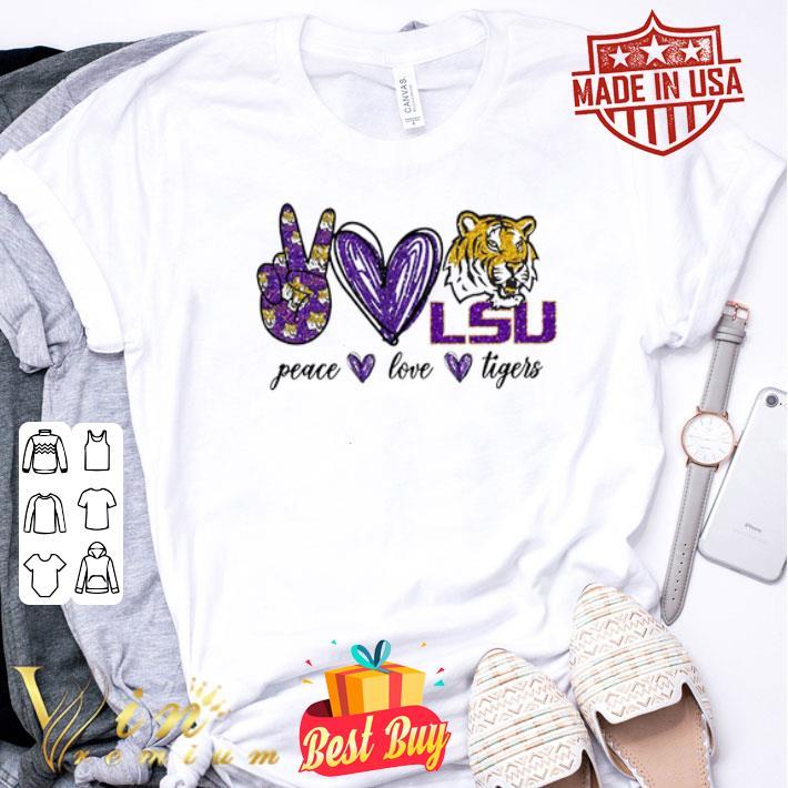 Peace Love LSU Tigers logo shirt