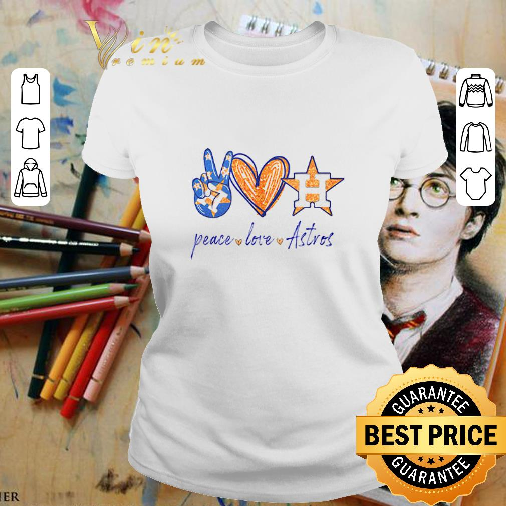 Peace love Houston Astros diamond shirt 2
