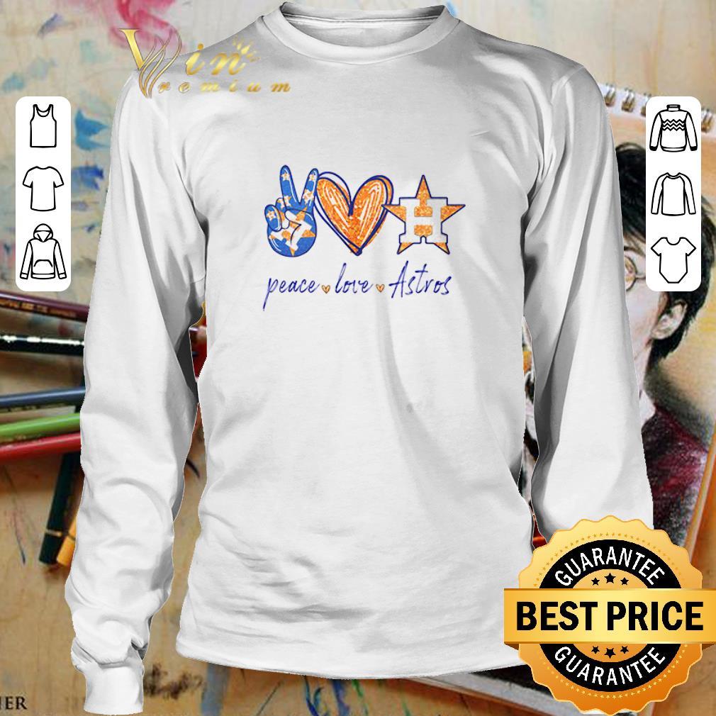 Peace love Houston Astros diamond shirt 3