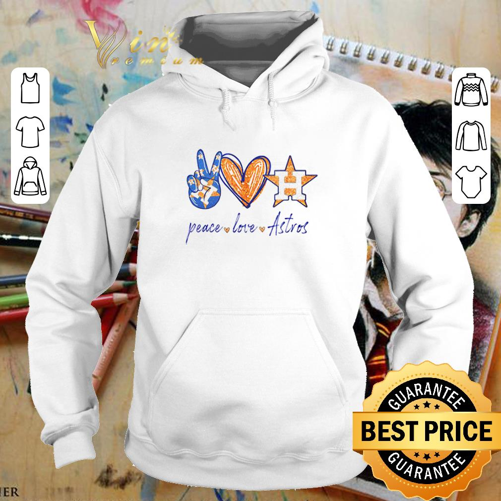 Peace love Houston Astros diamond shirt
