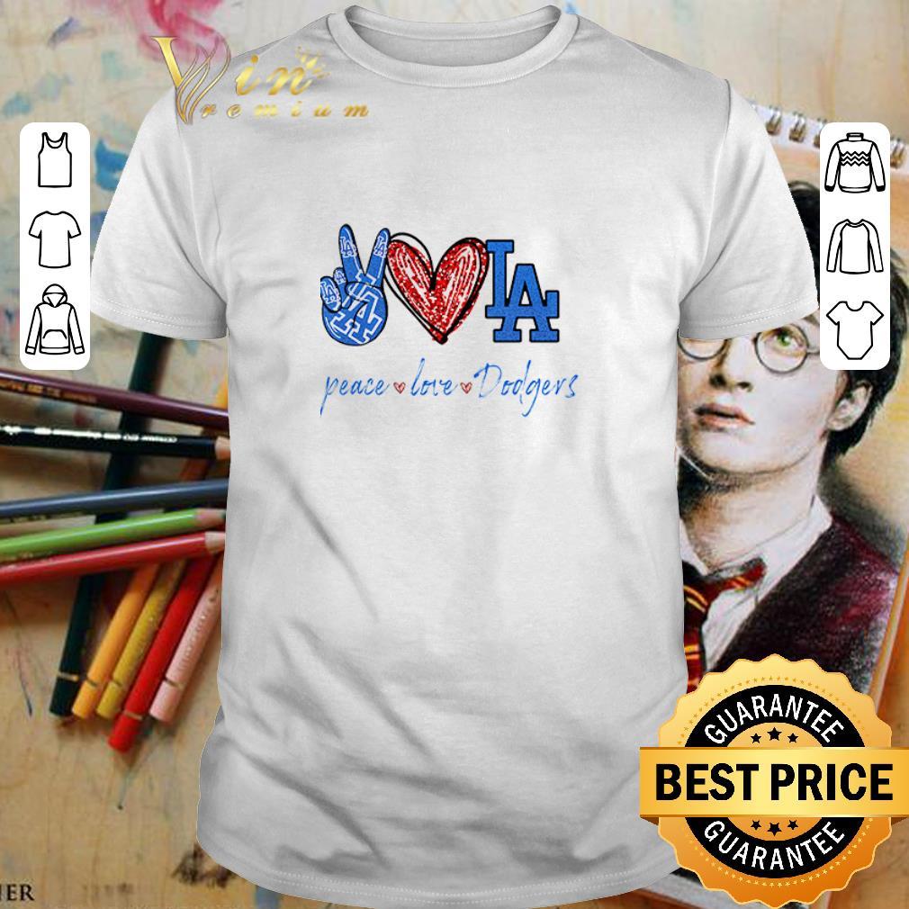 Peace love Los Angeles Dodgers diamond shirt 1