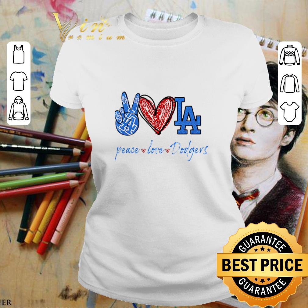 Peace love Los Angeles Dodgers diamond shirt 2