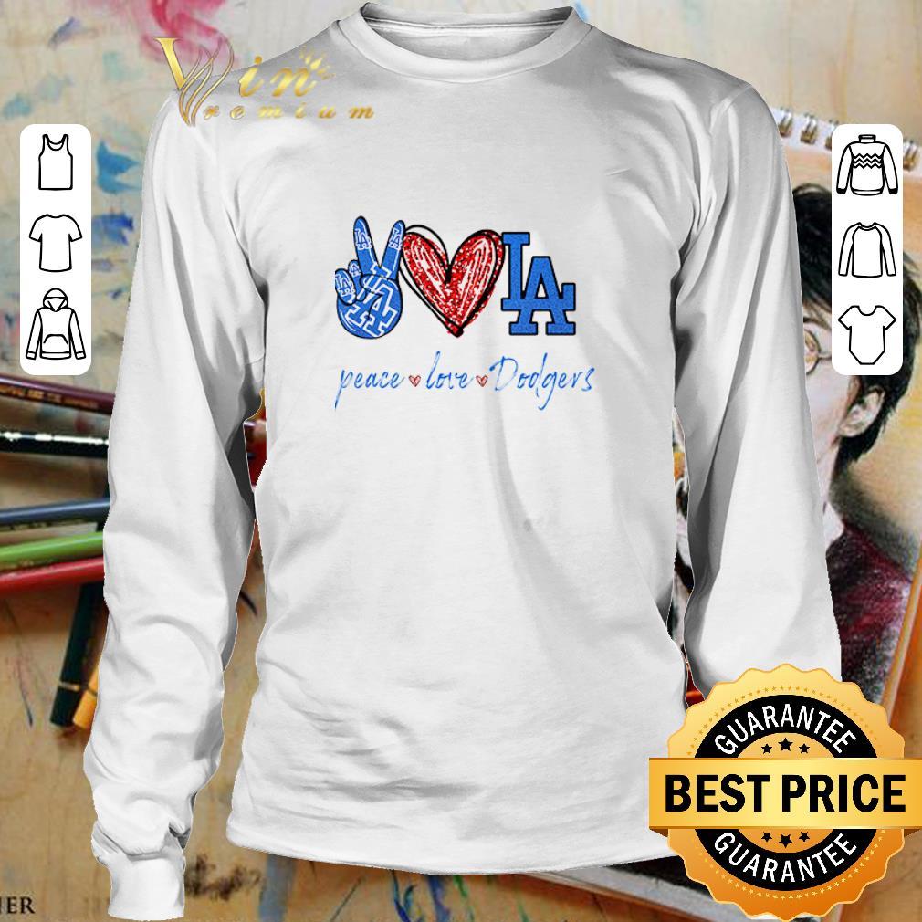 Peace love Los Angeles Dodgers diamond shirt 3