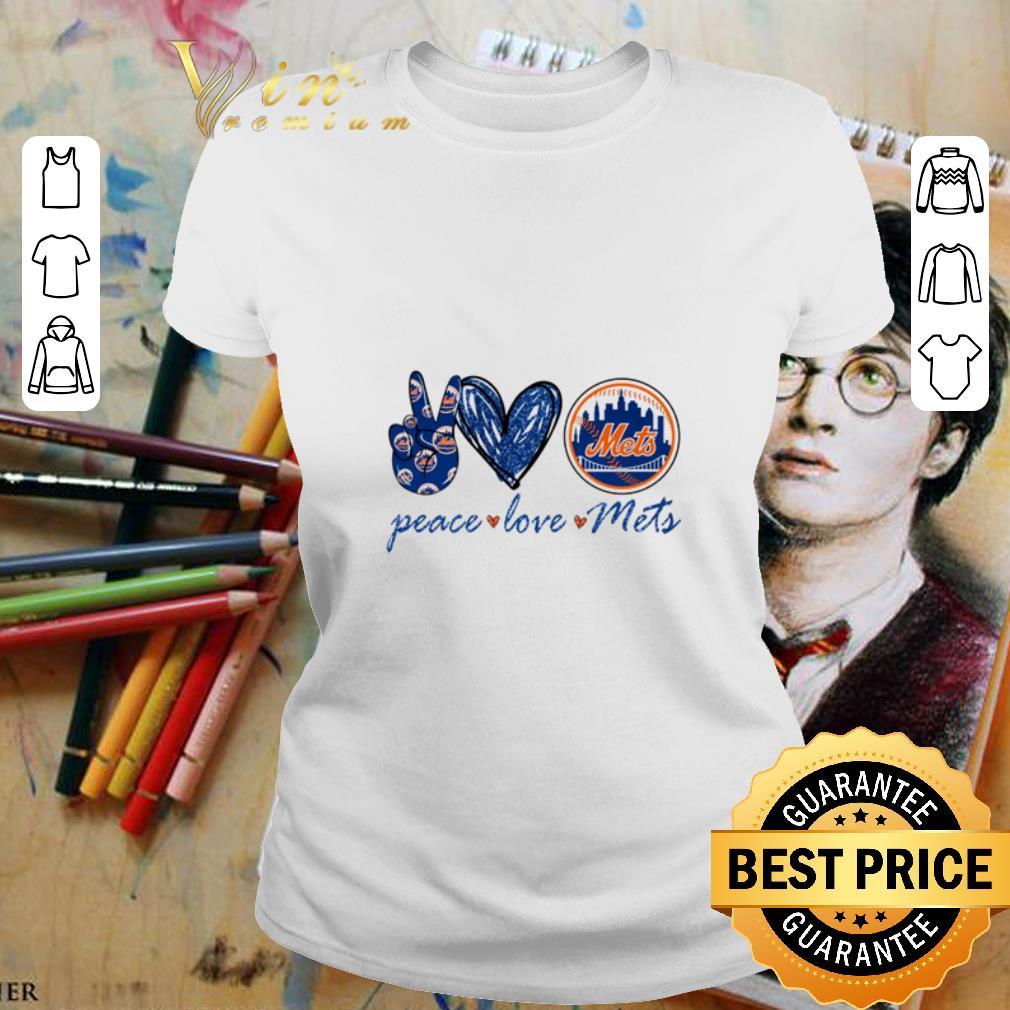 Peace love New York Mets logo shirt