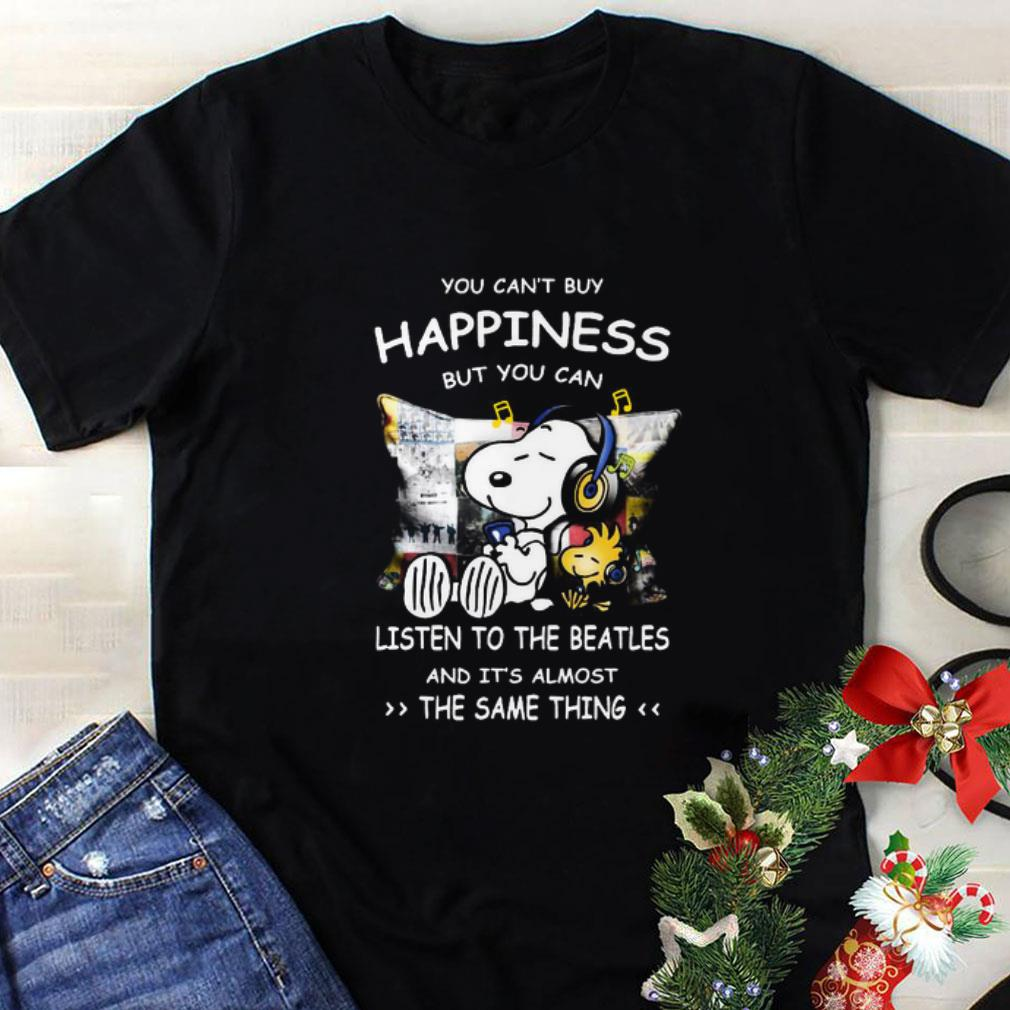 Peanuts Snoopy happiness listen to Led Zeppelin the same thing shirt 7