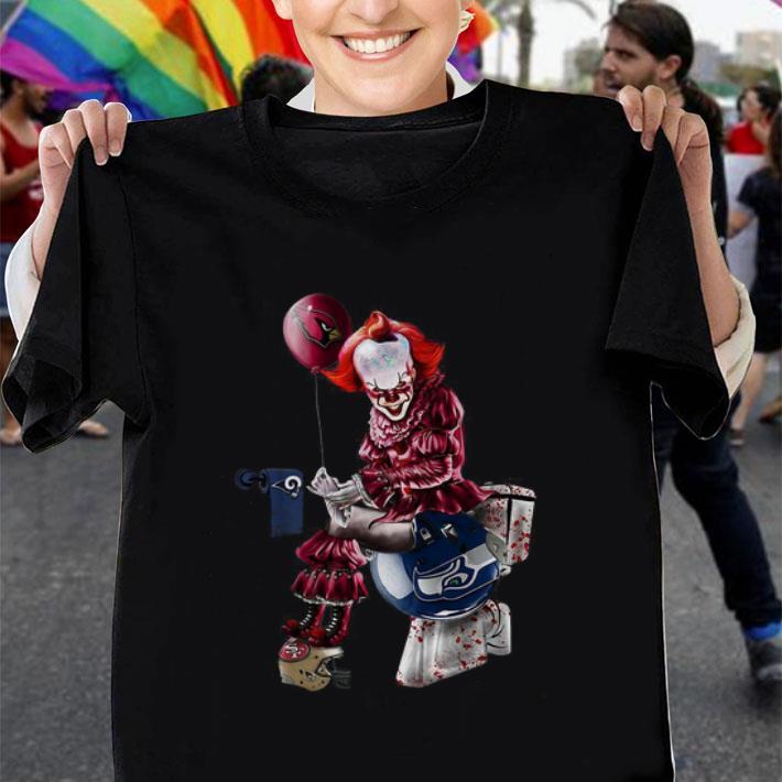 Pennywise Arizona Cardinals Los Angeles Rams Seahawks toilet shirt