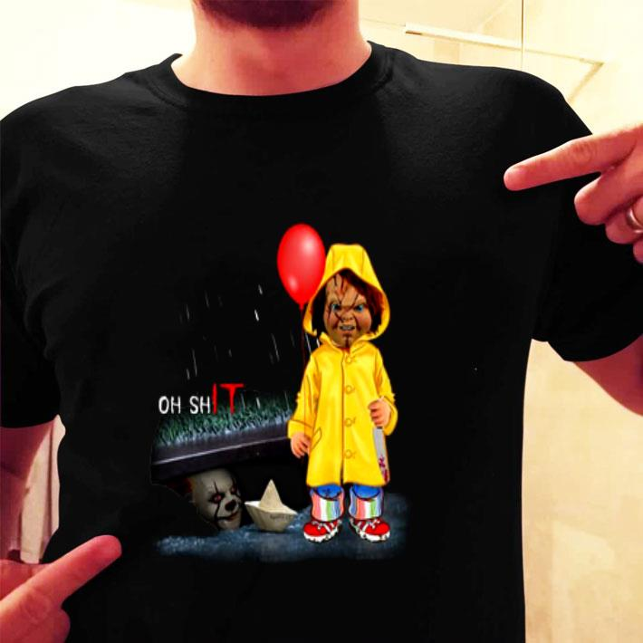 Pennywise Oh ShIT Chucky Georgie Denbrough shirt