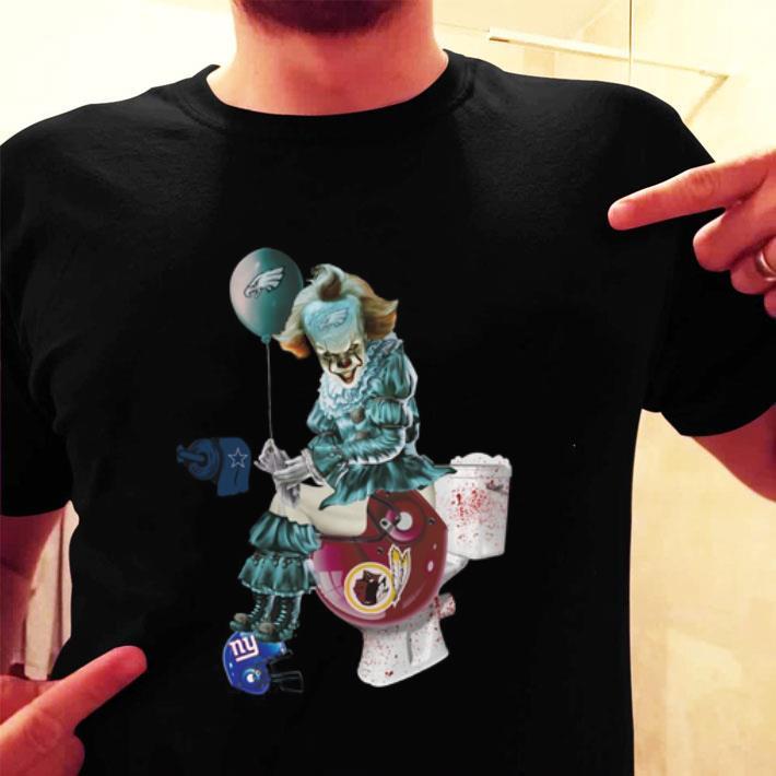 Pennywise Philadelphia Eagles Dallas Cowboys toilet Redskins shirt