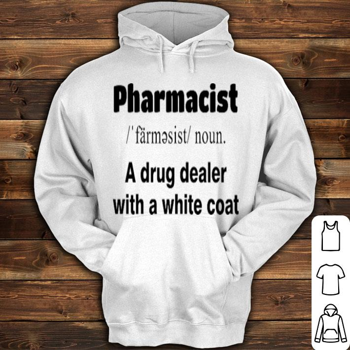 Pharmacist a drug dealer with a white coat shirt