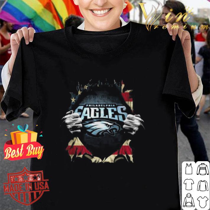 Philadelphia Eagles Superman American flag shirt