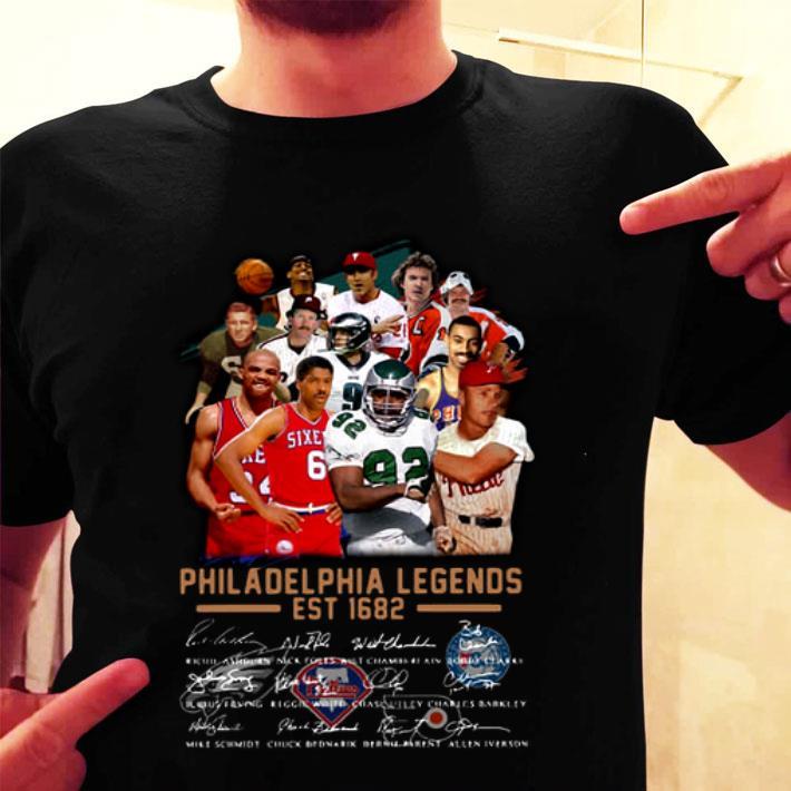 Philadelphia Legends Est 1682 Signatures shirt