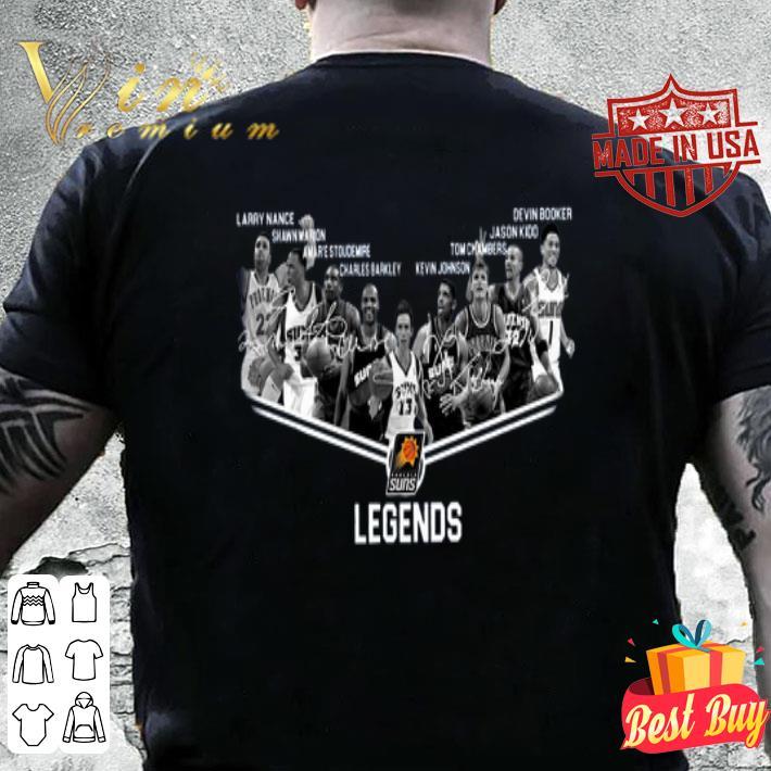 Phoenix Suns Legends NBA all signature autographed shirt
