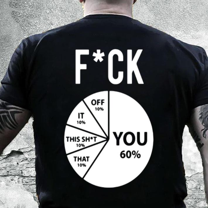 Pie chart Fuck You Off It This Shit That shirt