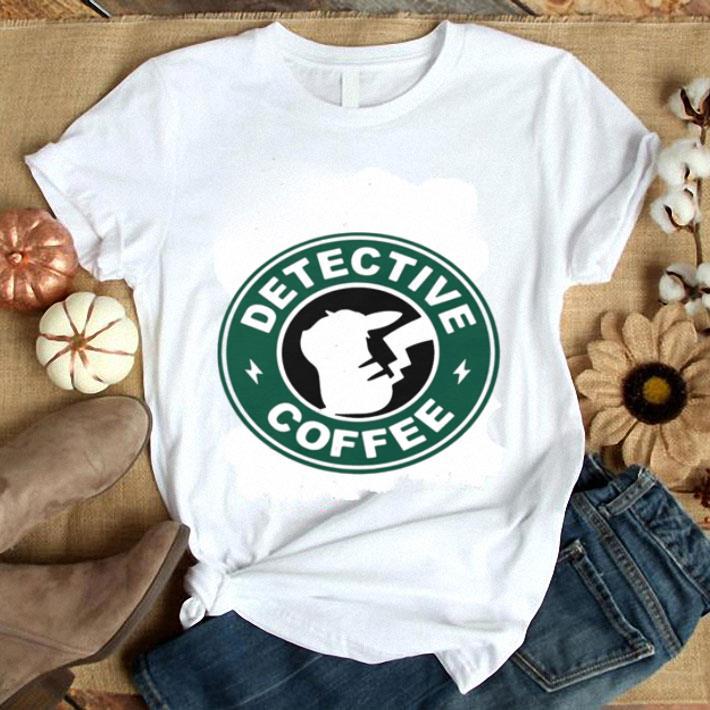 Pikachu Starbucks detective coffee shirt 1
