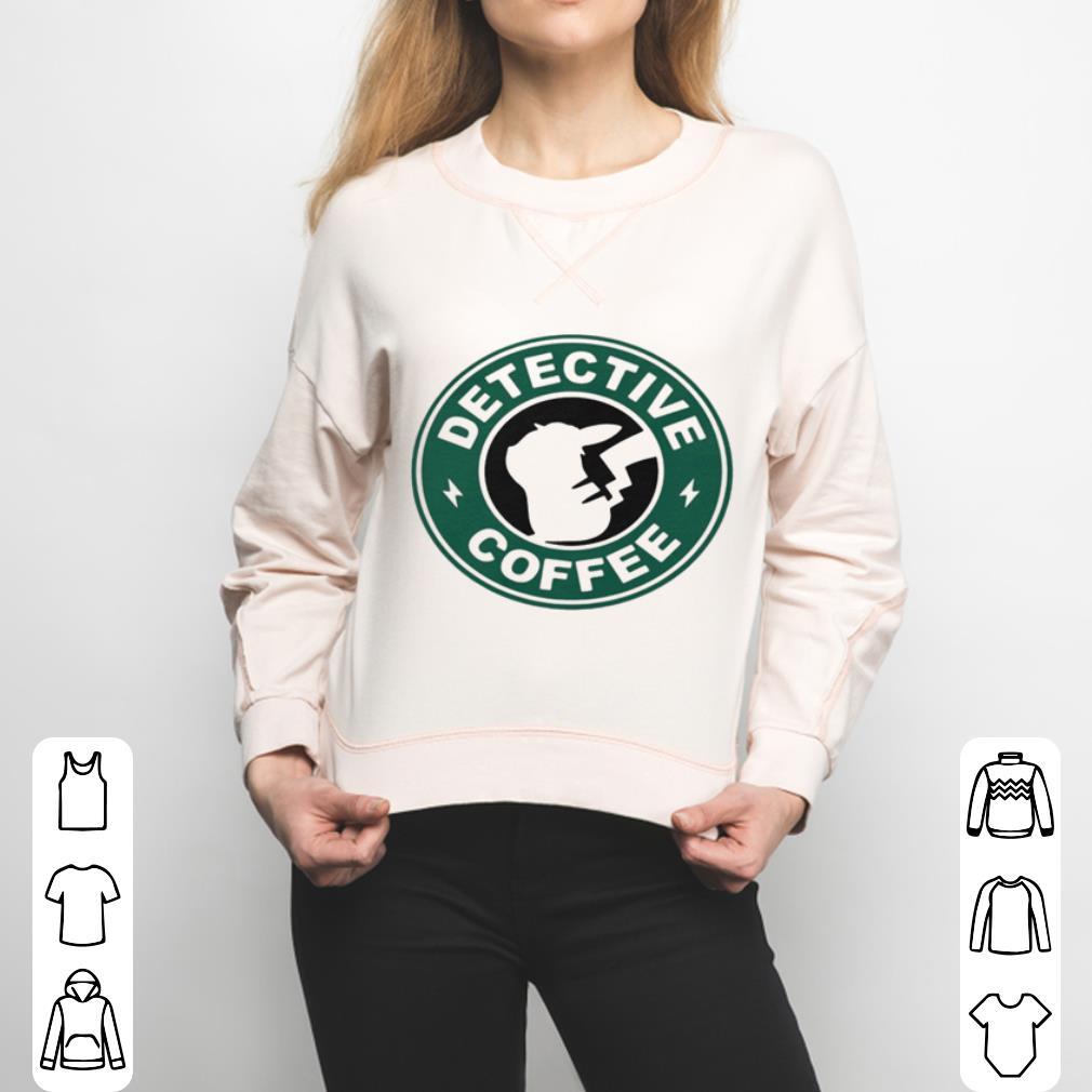 Pikachu Starbucks detective coffee shirt 3