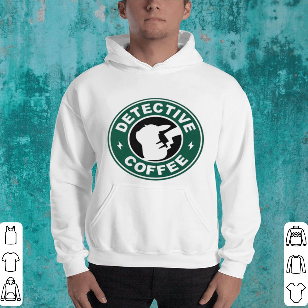 Pikachu Starbucks detective coffee shirt