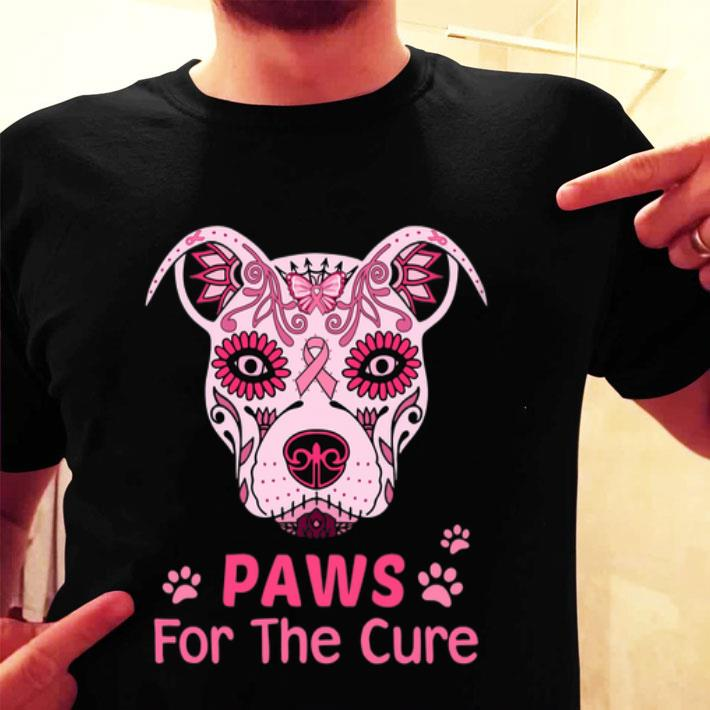 Pitbull Paws For The Cure Breast Cancer Awareness shirt