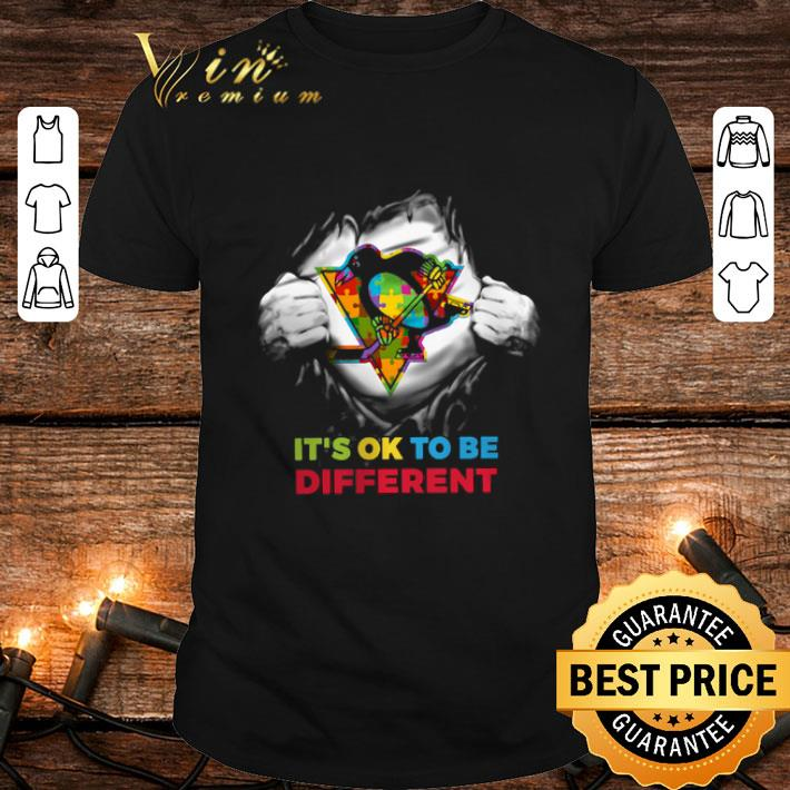Pittsburgh Penguins Blood inside me it's ok to be different shirt 1