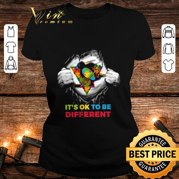 Pittsburgh Penguins Blood inside me it's ok to be different shirt 2