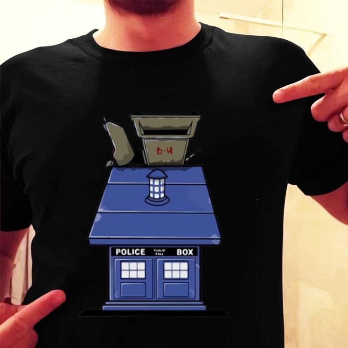 Police Box Doctor Who Snoopy Dog House shirt