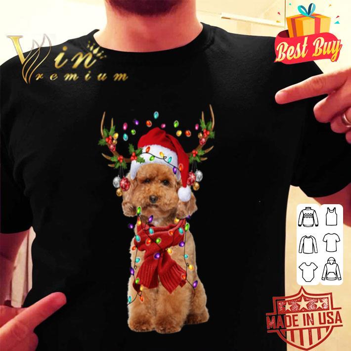 Poodle Reindeer Christmas shirt