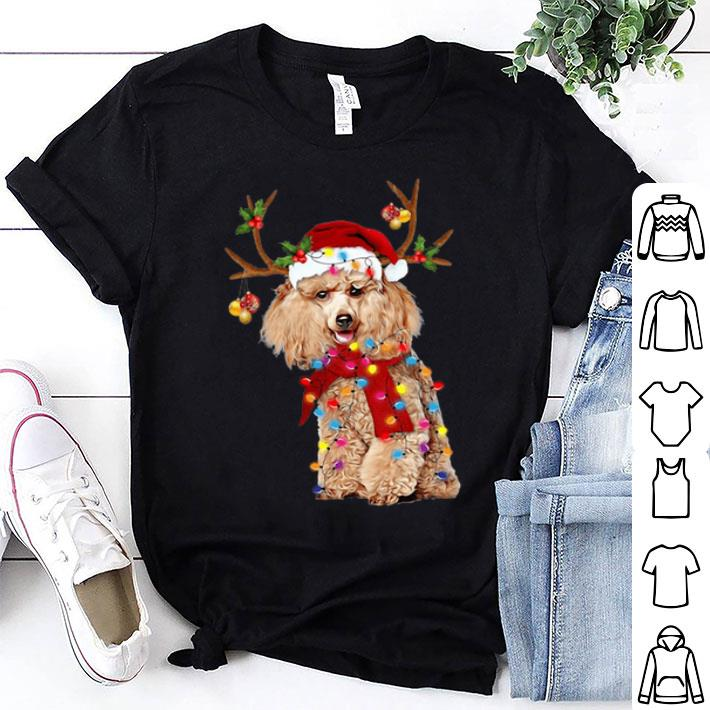 Poodle Santa Reindeer Christmas shirt