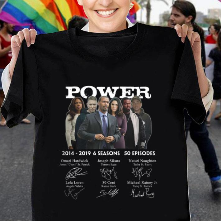 Power 2014-2019 6 seasons 50 episodes signatures shirt