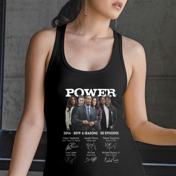 Power 2014-2019 6 seasons 50 episodes signatures shirt