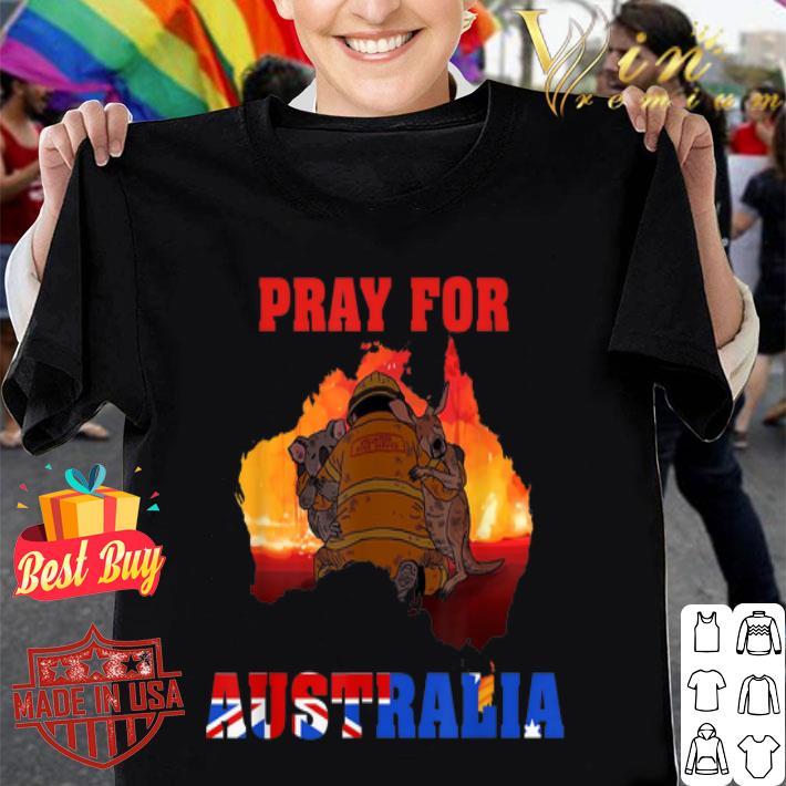 Pray For Australia Firefighter Save Koala And Kangaroo shirt