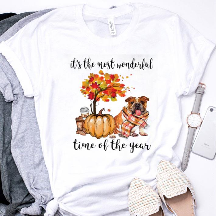 Pumpkin & Bulldog it's the most wonderful time of the year shirt
