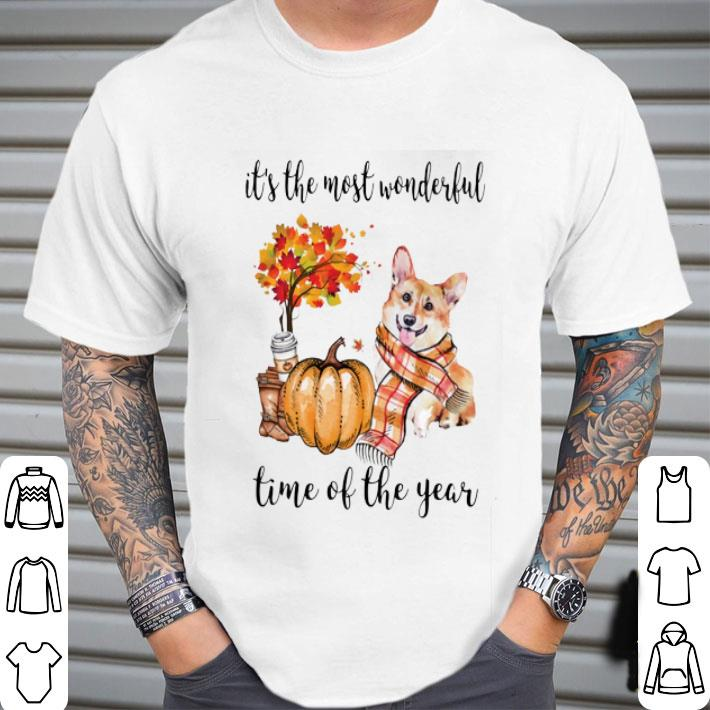 Pumpkin & Corgi it's the most wonderful time of the year shirt