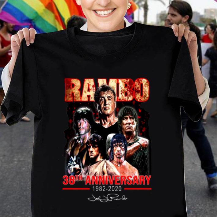 Rambo 38th anniversary 1982-2020 Signature shirt