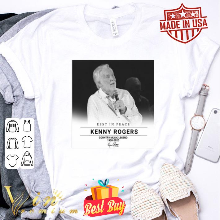 Rest In Peace Kenny Rogers Country Music Legend 1938-2020 signed shirt