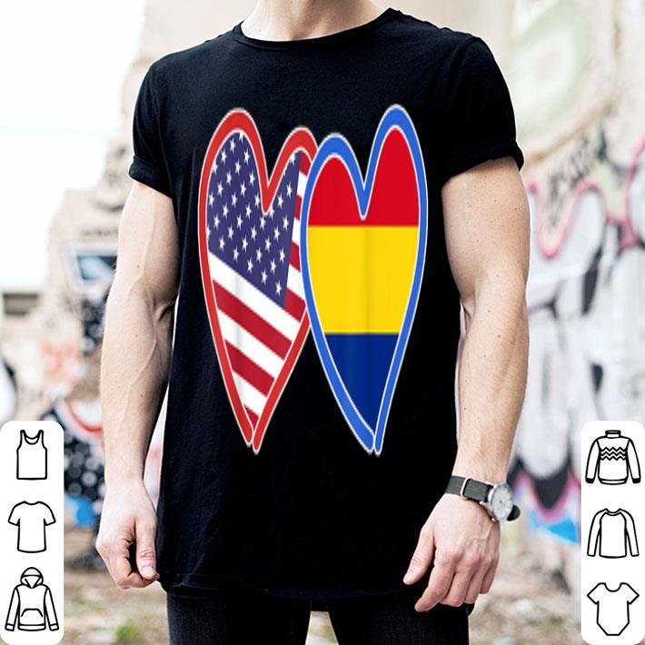 Romanian American Romania & America Flag shirt