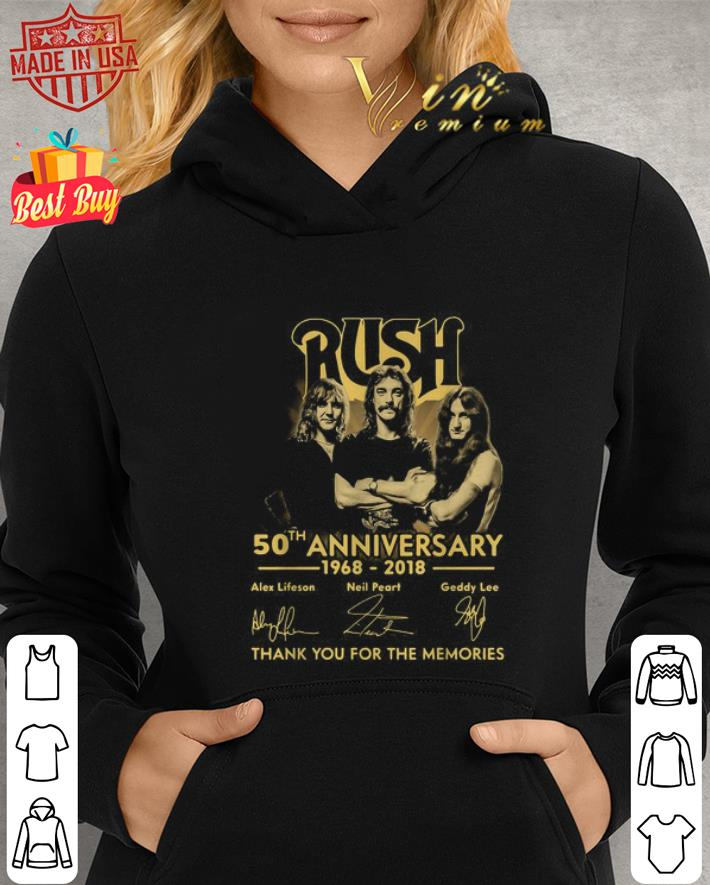 Rush 50th anniversary 1968 2018 signatures shirt 2