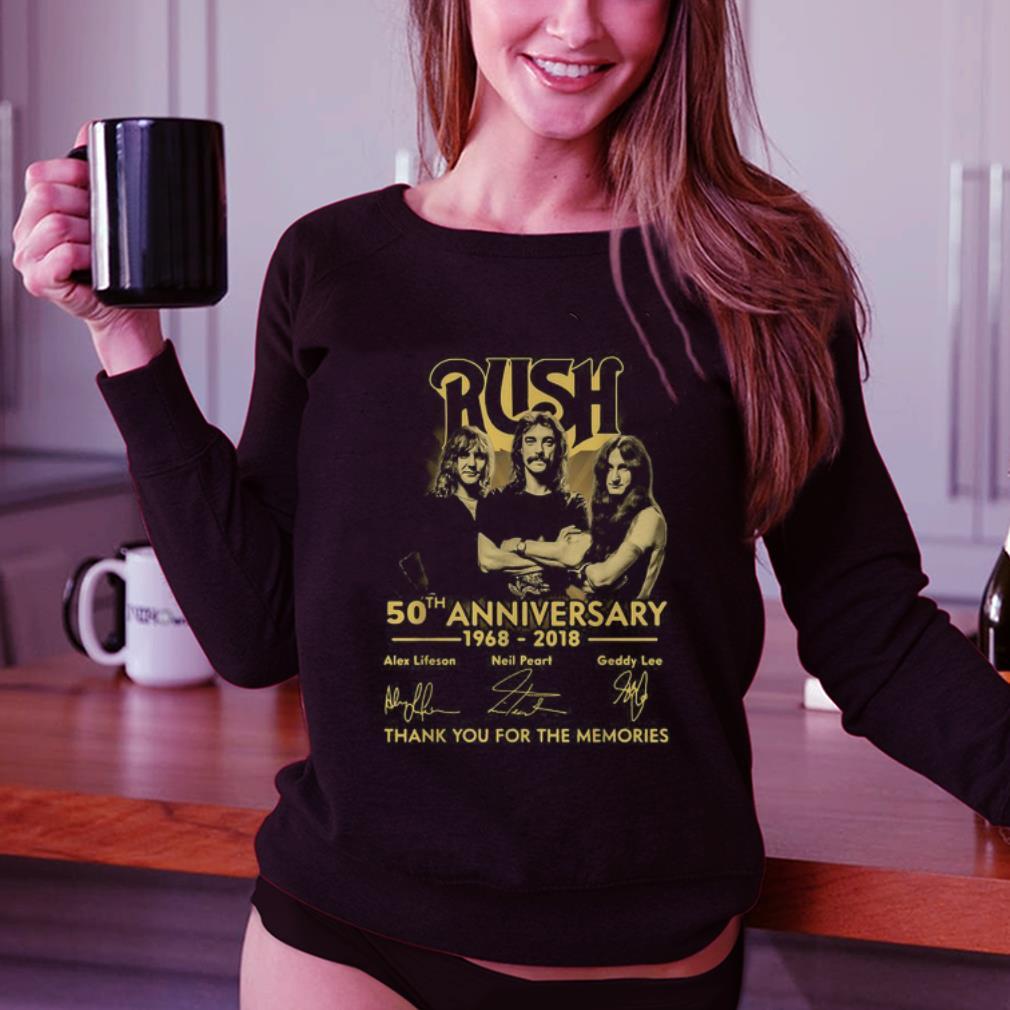 Rush 50th anniversary 1968 2018 signatures shirt 3