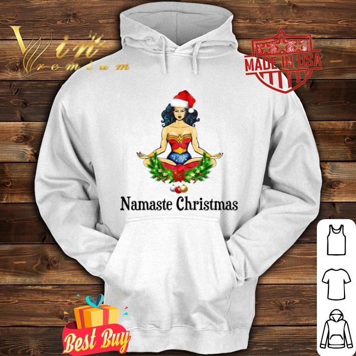 Santa Wonder Woman Namaste Christmas shirt