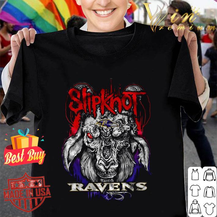 Satan Goat mashup Slipknot and Baltimore Ravens shirt