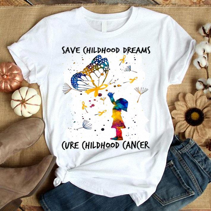 Save childhood dreams cure childhood cancer shirt