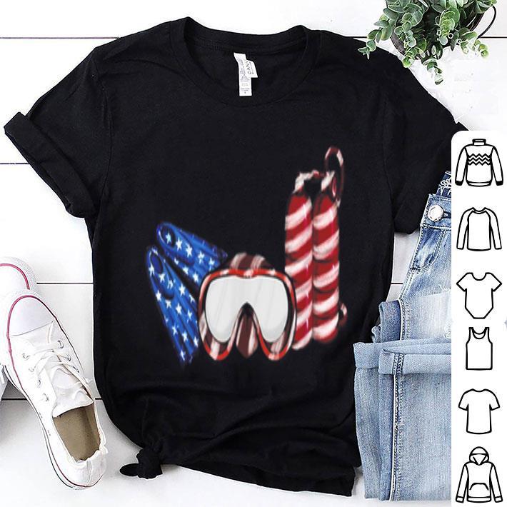 Scuba Diving Flag America shirt